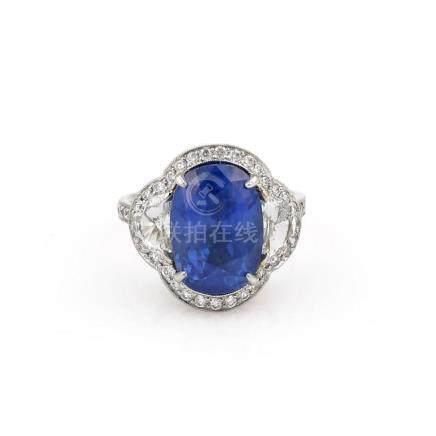 Platinum 10.68ct Burma No Heat Diamond Ring GIA