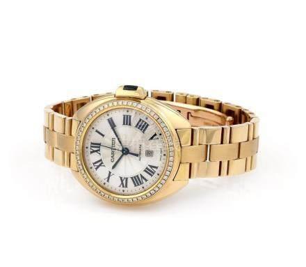 Cartier Cle De Cartier Pink Gold Watch with Diamonds