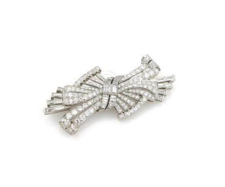 Platinum Art Deco Pin/Brooch