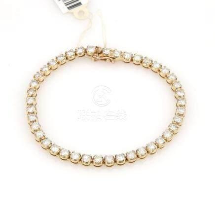 14Kt Yellow Gold 6 Cttw Tennis Bracelet