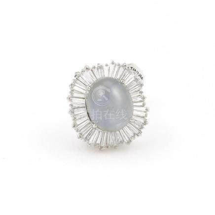 Stunning Platinum Sapphire & Diamond Ring