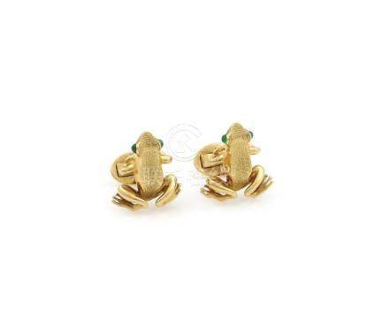 Tiffany & Co.Germany Emerald Frog Cufflinks