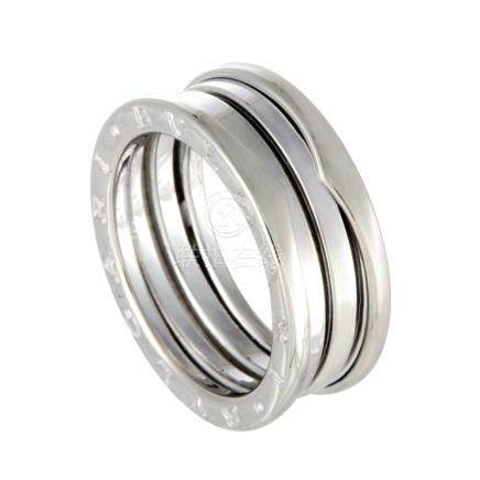 Bvlgari B.Zero1 18K White Gold ThreeBand Ring