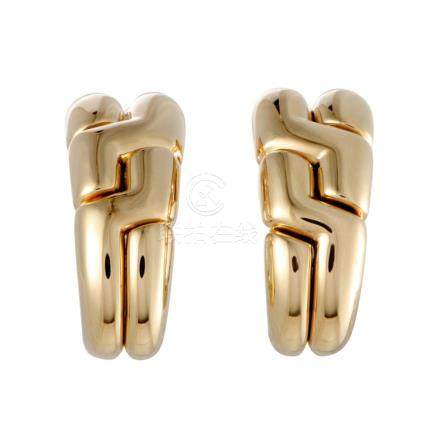 Bvlgari 18K Yellow Gold Clipon Earrings