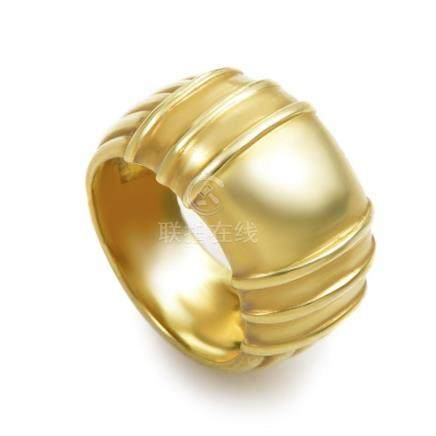 Judith Ripka Women's Carved 18K Yellow Gold Band Ring
