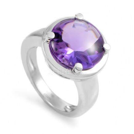 18K White Gold Amethyst Ring PPD2060Z