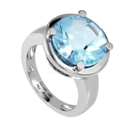 18K White Gold Topaz Ring PPD2140