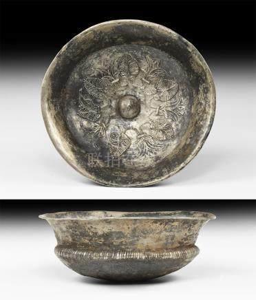 Western Asiatic Achaemenid Bowl with Lotus Flowers