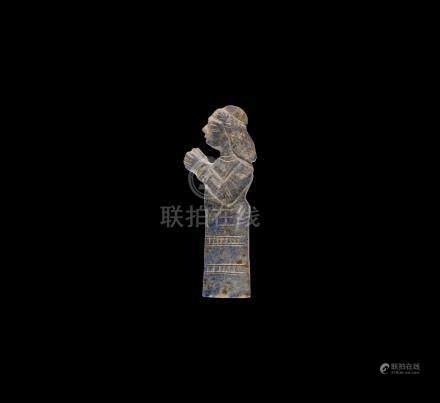 Western Asiatic Neo-Babylonian Lapis Lazuli Figure