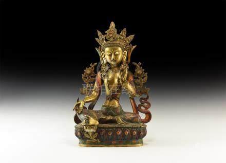 Sino-Tibetan Gilt Arya Tara Figure