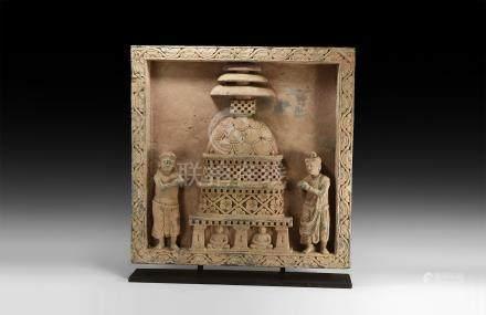 Large Gandharan Stupa Panel