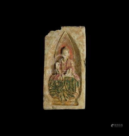 Chinese Brick with Buddha Figure