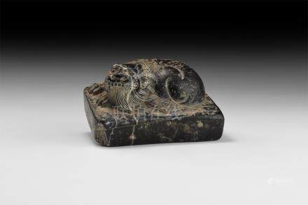 Chinese Carved Pixiu Scroll Weight