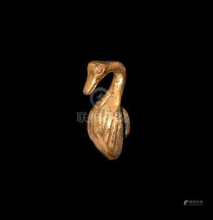 Chinese Ordos Gilt Belt Hook