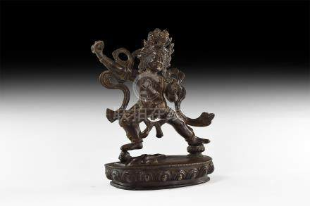 Tibetan Dancing Shiva Statuette