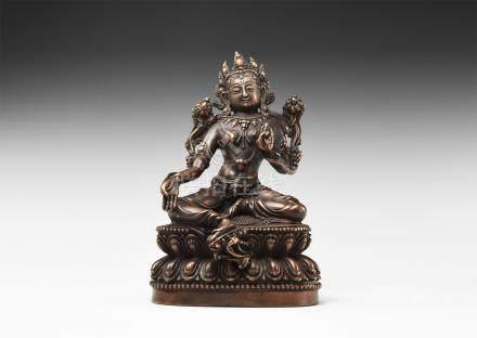 Sino-Tibetan Arya Tara Figurine