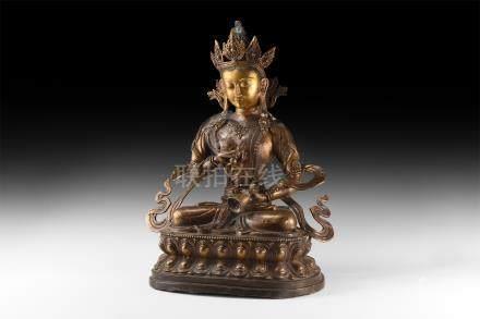 Large Tibetan Gilt Buddha Figure