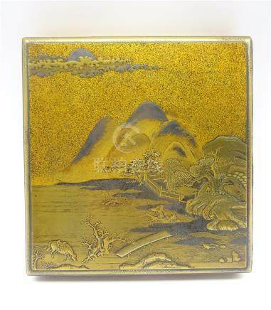 Japanese lacquer box,