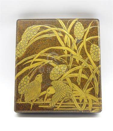 Another Japanese Lacquer Writing box, Edo period,