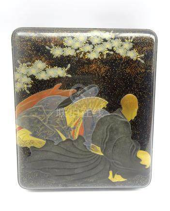 Japanese Lacquer Writing Box, Edo period,
