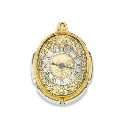 Probably English. An unsigned early oval foliate watch Circa 1600