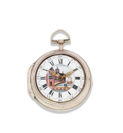 John Rayment, Huntingdon. A silver key wind pair case pocket watch London Hallmark for 1764