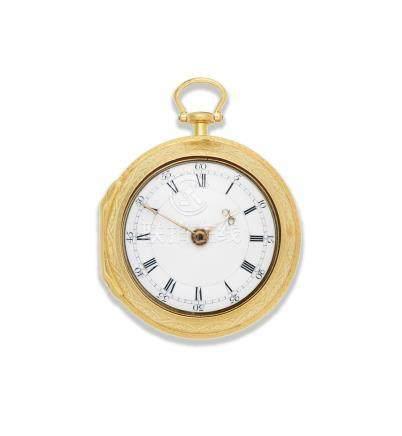 George Monro, Edinburgh. A gold key wind pair case pocket watch Circa 1770