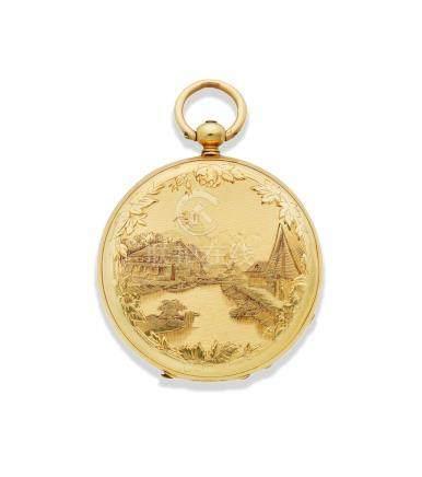 Vacheron. An 18K gold key wind open face pocket watch Circa 1860