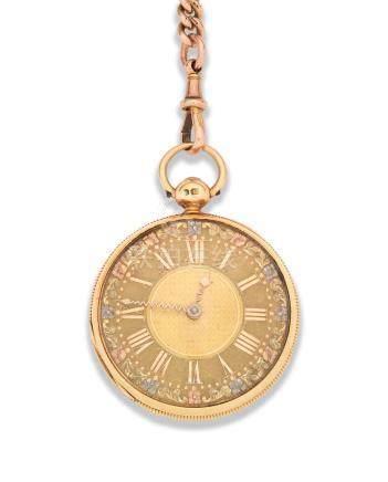 Matthew West, Dublin. An 18K gold key wind open face pocket watch London Hallmark for 1822