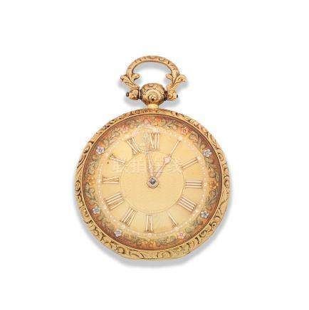 James Simpson, Lincoln. An 18K gold key wind open face pocket watch Chester Hallmark for 1827