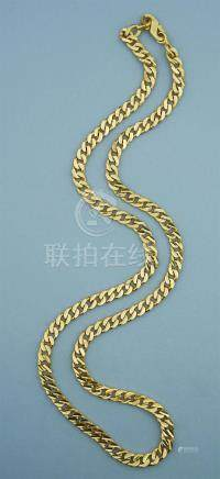 22K SOLID YELLOW GOLD CURB LINK NECKLACE