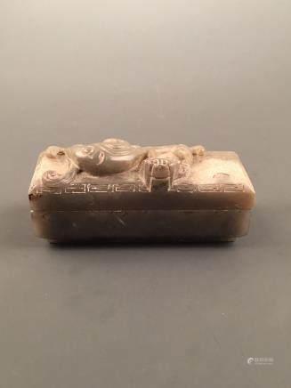 Chinese Archaic 'Ruixiu' Jade Box