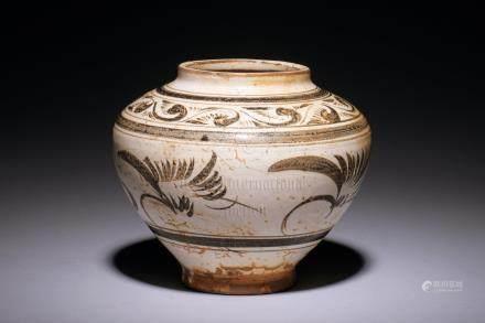 CIZHOU WARE 'FLOWERS' JAR