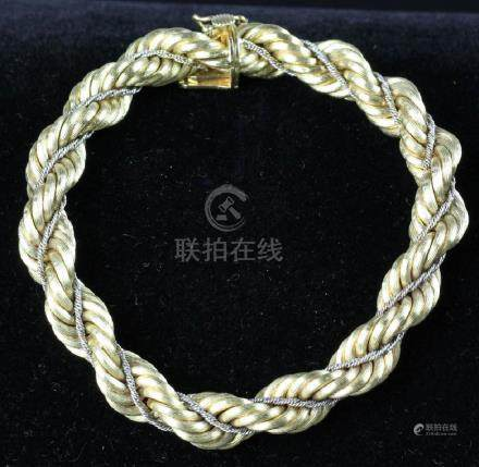 18K Yellow and White Gold Bracelet