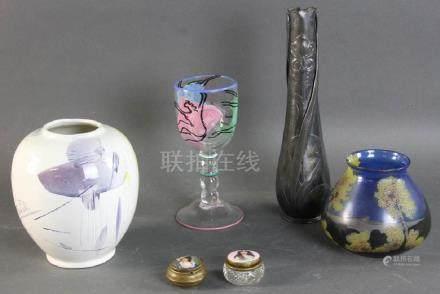 Group of 20thC Vases, Goblet, Jars