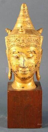 Thai Bronze Buddha Head