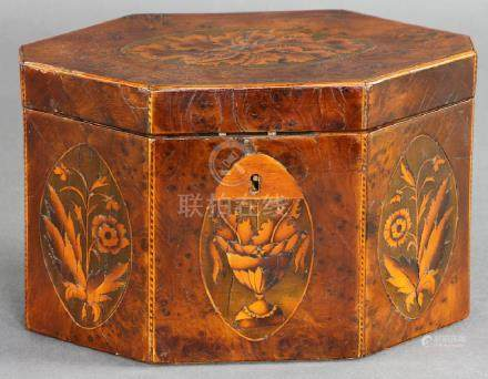 Early 19thC Mahogany Tea Caddy