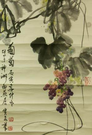 Tan Baoquan 1943-2014 Chinese Watercolor Scroll