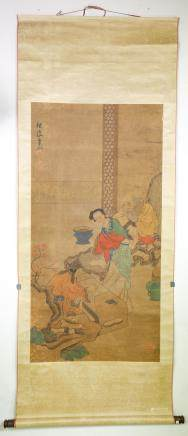 Chen Hongshou 1598–1652 Chinese Watercolor Scroll