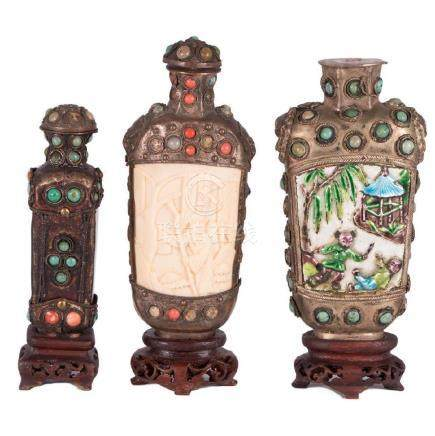 Three Tibetan Snuff Bottles.
