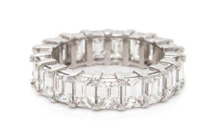 A Platinum and Diamond Eternity Band, 4.70 dwts.