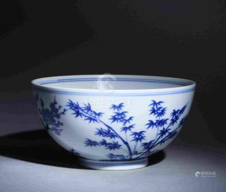 """QING DYNASTY """"KANGXI"""" PERIOD BLUE AND WHITE PORCELAIN"""