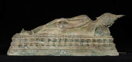 19th Century Sukhothai Reclining Nirvana Buddha