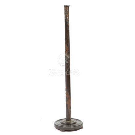 Hong Kong carved standard lamp 156.5cm high