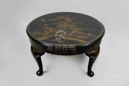 Tisch, China Anfang 20. Jh., Gartenszene mit punktueller Reliefunterstützung, H.: 38 cm, Durchm.