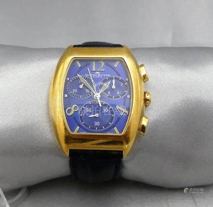 Une montre d'homme Alexis Van Der Bauwede, faisant chronographe, en or jaune