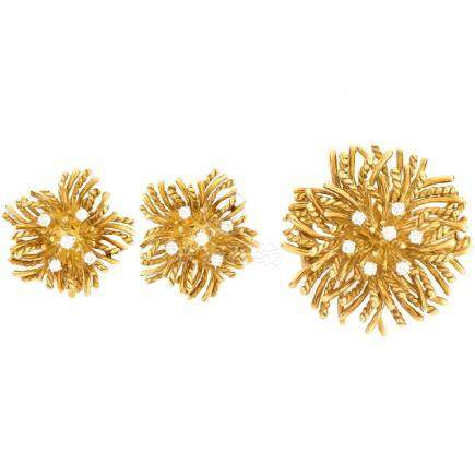 Vintage Tiffany & Co Brooch and Earring Suite