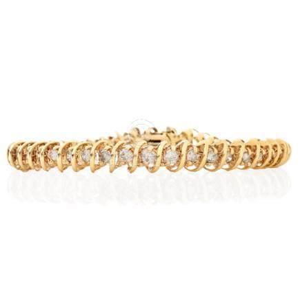 5.0ct TW Diamond and 14K Gold Tennis Bracelet