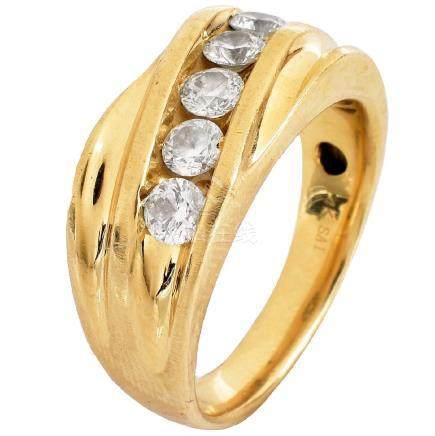 Man's 1.10ct Diamond and 14K Gold Ring