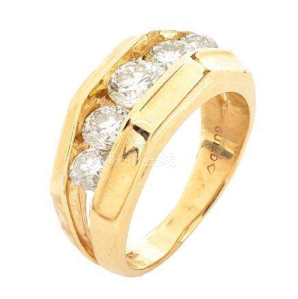 Man's 1.75ct Diamond and 14K Gold Ring